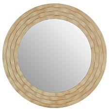 Premier Housewares Gwenn Wall Mirror with Wooden Frame - Antique Silver Finish