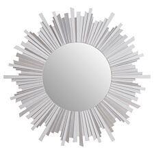 Premier Housewares Gwyn Wall Mirror in Wooden Frame - Antique Silver Finish