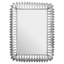Premier Housewares Merlin Silver Leaf Frame Wall Mirror