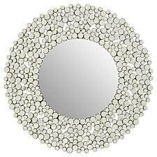 Premier Housewares Gavina Round Wall Mirror - Silcer