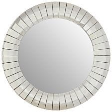 Premier Housewares Gem Round Wall Mirror - Silver