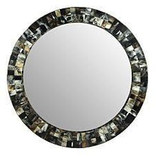 Premier Housewares Marlox Wall Mirror - Antique Green