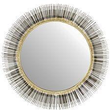 Premier Housewares Templar Wall Mirror - Brass Finish