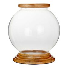 Premier Housewares Hampstead Hurricane Round Candle Holder - Small
