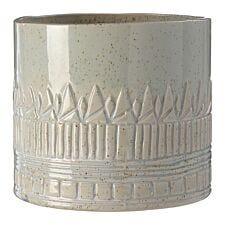 Premier Housewares Petra Large Vase - Light Green Finish