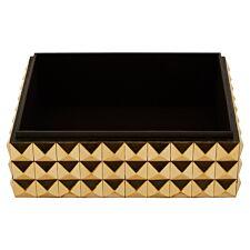 Premier Housewares Lexus Large Trinket Box with Pyramid Studs - Gold Finish