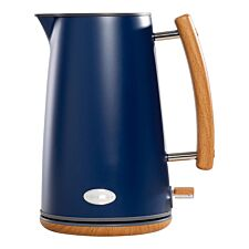 Daewoo SDA1705DS Skandik 3KW Stainless Steel 1.7L Jug Kettle with Wooden Handle – Navy Blue