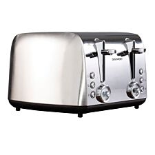 Daewoo SDA1749 Kingsbury 2100W 4–Slice Dial Toaster – Stainless Steel