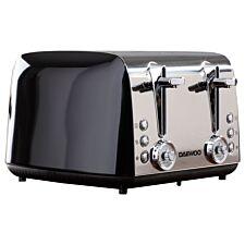 Daewoo SDA1777DS Kingsbury 4–Slice Dial 1850W Toaster – Black