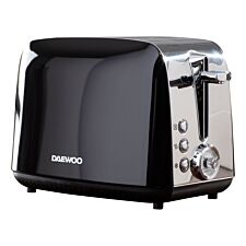 Daewoo SDA1776 Kingsbury 2100W 2–Slice Dial Toaster – Black
