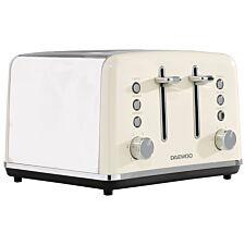 Daewoo SDA1585DS Kensington 4–Slice 1750W Toaster – Cream