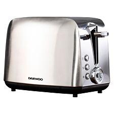 Daewoo SDA1748DS Kingsbury 2–Slice Dial Toaster – Stainless Steel