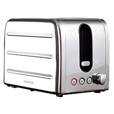 Daewoo SDA1786DS Deauville 2–Slice Toaster – Stainless Steel
