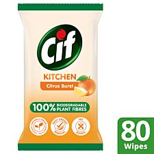 Cif Bio Kitchen Wipes - 80