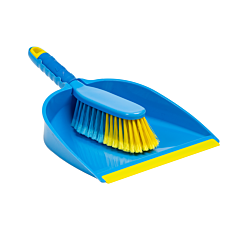 Flash Dustpan & Brush - Blue/Yellow