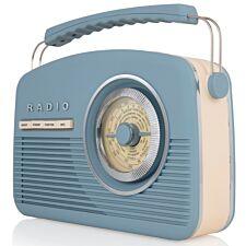 AKAI DAB Vintage Radio - Blue
