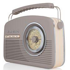 AKAI DAB Vintage Radio - Taupe