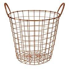 Premier Housewares Vertex Wire Basket - Copper