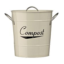 Premier Housewares Compost Bin With Plastic Inner Bucket - Cream