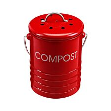 Premier Housewares Compost Bin With Handle - Red