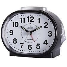 Acctim 'Lila' Sweep Alarm Clock - Black
