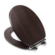 Croydex Montoro Walnut Effect Flexi-Fix Toilet Seat