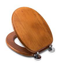 Croydex Davos Antique Pine Flexi-Fix Toilet Seat