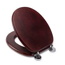 Croydex Davos Mahogany Flexi-Fix Toilet Seat