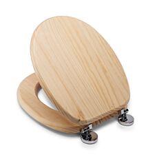 Croydex Davos Blonded Pine Flexi-Fix Toilet Seat
