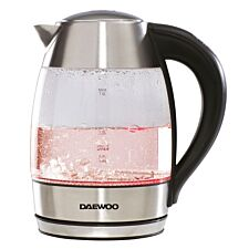 Daewoo 2200W Digital Temperature Control 1.8L Kettle - Stainless Steel