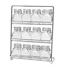 Hahn Pisa Clip Top 12 Jar Spice Rack With Jars