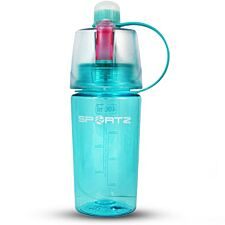 Aquarius SportZ 400ml Travel Water Bottle with Spray Function - Blue