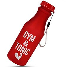 """Aquarius Sportz Water Bottle """"Gym and Tonic"""" - Red"""