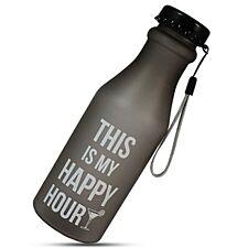 "Aquarius Sportz Water Bottle ""This is my Happy Hour"" - Black"