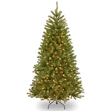 8ft National Tree Company North Valley Spruce Tree with White LEDs