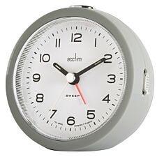 Acctim 'Neve' Sweep Alarm Clock - Silver Fox