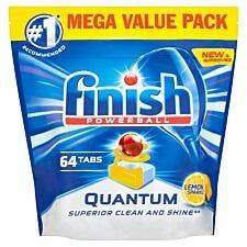 Finish Quantum Max Lemon Dishwasher Tablets - 64 Pack