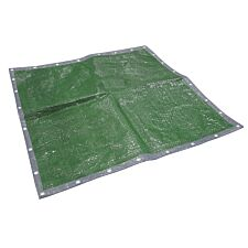 Faithfull Tarpaulin Green / Silver 5.4 x 3.6m (18 x 12ft)