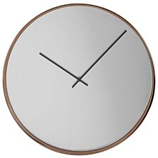 Interiors by Premier Arthur Wall Clock with Mirror Face - Rose Gold