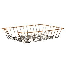 Maison by Premier Mimo Wire Tray - Black/Rose Gold Finish