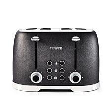 Tower T20030 1600W 4-Slice Toaster - Black