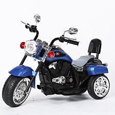 Ricco 3 Wheel Battery Powered Harley Style Electric Chopper - Blue