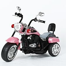 Ricco 3 Wheel Battery Powered Harley Style Electric Chopper - Pink