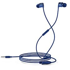 Mixx Buddy's Wired Earphones with Splitter, Mic, Stereo Jack and Remote - Blue
