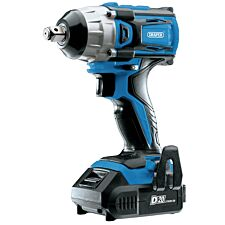 Draper D20 20V Brushless 1/2 Mid-Torque Impact Wrench with 2 x 2Ah Batteries and Charger (250Nm)