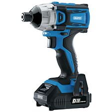 Draper D20 20V Brushless 1/4 Impact Driver with 2 x 2Ah Batteries and Charger (180Nm)