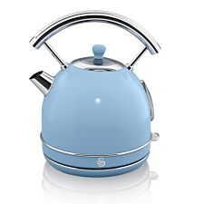 Swan SK14630BLN 1.8L 3000W Retro Dome Kettle - Blue