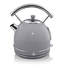 Swan SK14630GRN 1.8L 3000W Retro Dome Kettle - Grey
