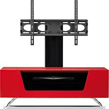 Alphason Chromium 2 1000 + Bracket TV Stand - Red
