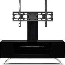 Alphason Chromium 2 1200 + Bracket TV Stand - Black